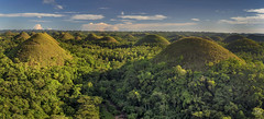Chocolate Hills (Bram de Jong) Tags: landscape panorama bohol chocolatehills green sky travel philippines sunset goldenhour trees nikond500 tripadvisor roughguide ngc forest mountains happyplanet asiafavorites