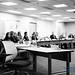 B&W of @SoundRegion Transportation Cmte Members Taking In Ze WSDOT Director Lecture