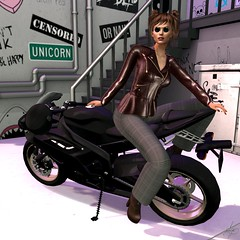 Biker (Algezares (III)) Tags: ghee jacket jacketpants biker bike secondlife maitreya mesh genus