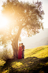 Waiting for you (Sweet Moments SM Photography) Tags: pregnancy winter goldenhour bellinzona ticino switzerland