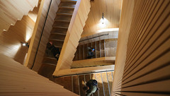 Tiedekulma Staircase, University of Helsinki (Joshua Khaw) Tags: wood timber staircase helsinki tiedekulma think corner stairs university finland interior architecture