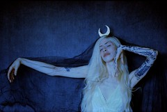 I Was Made to Love Magic (Gab Minks) Tags: moon witch witchcraft 35mm film tulle kodak portra kodakportra400 400nc
