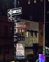Which Way to Go (Jocey K) Tags: sonydscrx100m6 triptocanadaandnewyork architecture buildings evening illumination nighttourhopandhopoffbus signs words newyorkcity