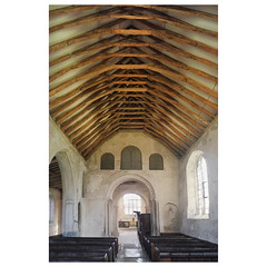St John's (badger_beard) Tags: st johns church green street duxford cambridge cambs south cambridgeshire 12th century churches conservation trust nave roof beams rafters scissor pulpit commandment board iphone 6s
