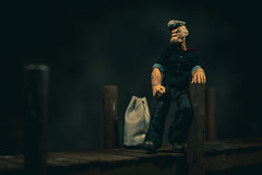 Shipping Out (3rd-Rate Photography) Tags: popeye popeyethesailor mezco one12 thimbletheatre ecsegar toy toyphotography canon 50mm 5dmarkiii jacksonville florida 3rdratephotography earlware 365