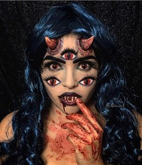 Awesome! By @aquetz.art.lli (ineedhalloweenideas) Tags: halloween makeup make up ideas for 2017 happy night before christmas october 31 autumn fall spooky body paint art creepy scary horror pumpkin boo artist goth gothic amazing awesome