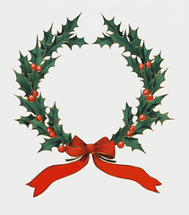 Vintage Christmas holly wreath (Free Public Domain Illustrations by rawpixel) Tags: kung kwan pdcomposite pdproject20 pdproject20batch44 pdproject22 por vector pdproject20batch44x antique art arts artwork berry buttolph card celebration christmas christmascard christmasdinner decor decoration decorative design drawing frank green greeting historic historical history holiday holidays holly hollyleaves illustration leaf leaves menu menucard merrychristmas mistletoe name ornament ornate painting print publicdomain red retro ribbon thebuttolphcollectionofmenus thenewyorkpubliclibrary vintage watercolor winter wreath xmas