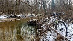 2019 Bike 180: Day 15 - Accotink Creek (mcfeelion) Tags: cycling bike bicycle bike180 2019bike180 snow accotinkcreek annandaleva wakefieldpark