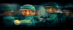 endor rebel troopers action frame in colors (jooka5000) Tags: starwars lego endor rebeltroopers minifigs running motion toys experiment lighting cinematic framing
