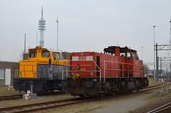 22.02.2019 (IV); Locjes Waalhaven (chriswesterduin) Tags: waalhaven locomotief trein train shunter db cargo mak de6400