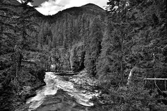 The Stehekin River with a Backdrop of Evergreens and Mountains (Black & White, North Cascades National Park) (thor_mark ) Tags: alongstehekinvalleyrd azimuth181 blackwhite bluesskieswithclouds bonanzamassif capturenx2edited cascaderange centralnorthcascades colorefexpro day5 evergreentrees evergreens heatherridge hillsideoftrees landscape lookingdownstream lookingsouth mountainpeak mountains mountainsindistance mountainsoffindistance mountainside nature nikond800e northcascades northcascadesnationalpark northcascadesnationalparkcomplex northcascadesnationalparkservicecomplex outside pacificranges partlycloudy portfolio project365 rapids river rollinghillsides sisiridge stehekinriver sunny talltrees trees triptonorthcascadesandwashington waterrapids washington unitedstates
