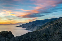 Big Sur Sunset (Kirk Lougheed) Tags: bigsur california lopezpoint nacimientofergussonroad santaluciamountains usa unitedstates coast landscape ocean outdoor pacific pacificocean sea sunset water