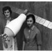 Women of Apollo: Ann R. McNair and Mary Jo Smith with Model of Pegasus Satellite, July 14, 1964