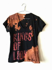 Women's Splatter Bleached and Shredded Kings of Leon Shirt Medium (shopthegasstation) Tags: clothes streetwear grunge distressed altered etsy gasstation festival womens girls ladies mens guys beat destroyed ripped band graphic tour tee tshirt shirt shredded bleached acidwashed kings leon