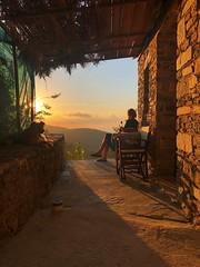Greece sunset (marijn wandel) Tags: greece ikaria sunset colors dog evening stonehouse shadows vacation beautyful nice relax mountains sky sun