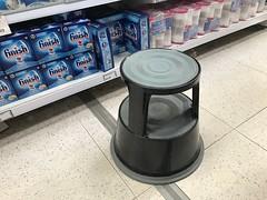 (Sam Tait) Tags: supermarket mini mart market stool wheel wheeled sprung shoppe pos point sign aid step old skool school pop popper steps