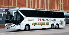 Go Goodwins, Eccles, Manchester (Manchester Bee Coaches) MC17BEE participating in the 65th UK Coach Rally in Blackpool. (Gobbiner) Tags: gogoodwins manchesterbee mc17bee tourliner i❤️manchester neoplan blackpool 65thukcoachrally eccles manchester🐝