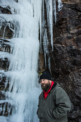 DSC_6499 (TDog54Photography / TCS Photography) Tags: thomas photographer bear beard hairy hair man mountains north carolina hat coat ice water frozen 2017