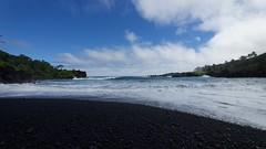 Black Sand Beach (gsmper) Tags: hana maui hawaii beach sand sky clouds seascape landscape water sony sigma art mc11 nature