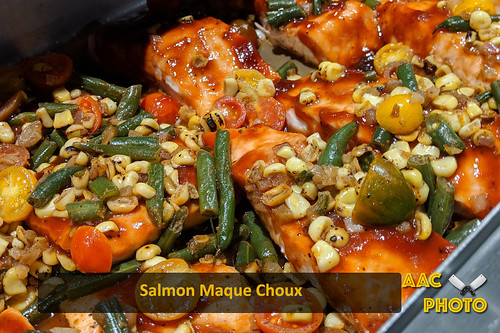 "Salmon Maque Choux • <a style=""font-size:0.8em;"" href=""http://www.flickr.com/photos/159796538@N03/40034467853/"" target=""_blank"">View on Flickr</a>"