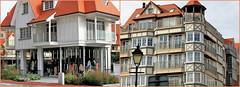 Immeubles à Knokke, Belgium (claude lina) Tags: claudelina belgium belgique belgië knokke merdunord noordzee plage sable beach cabines maison house immeuble building architecture