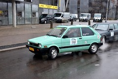 Start Carbage Run winter 2019 - Kopenhagen (FaceMePLS) Tags: kopenhagen copenhagen denemarken denmark scandinavië facemepls nikond5500 rally car voiture pkw wagen voertuig sp22gy 1987subarujustyslii4wd12s6