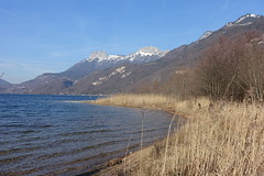 Plage du Bout du Lac @ Doussard @ Walk in Sources du Lac d'Annecy (*_*) Tags: february afternoon 2019 hiver winter savoie sourcesdulacdannecy walk randonnée nature hiking mountain marche europe france hautesavoie 74 annecy doussard naturereserve parc