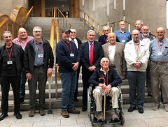 Welcoming Macmerry Men's Shed group to Holyrood
