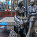 THE MEETING PLACE STATUE LOCATED NEAR THE HALFPENNY BRIDGE IN DUBLIN [LOCALLY KNOWN AS THE HAGS WITH THE BAGS]-149836
