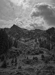 Approaching Storm (vaclav-vancura) Tags: storm cloud sky monochromatic mountain alpine sun backlight landscape nature