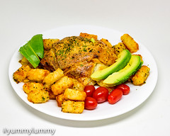 Sous vide Vegemite steak with blue cheese in puff pastry. Served with potato gems, tomatoes, and avocado. (garydlum) Tags: avocado beef bluecheese cheese potatogems puffpastry sousvide steak tomatoes canberra australiancapitalterritory australia au