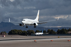 Ruffin BBJ (dmeg180) Tags: plane airplane aircraft jet corporate lasvegas klas las runway mccarran nevada boeing bbj 737 ruffin treasureisland nikon d500 70200mm