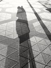 Sunday afternoon selfie (heleconia) Tags: fotografie schwarzweis vertikal imfreien dortmund nrw schatten lichtschatten