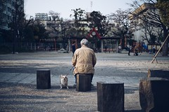 oldman and dog (shinyahirata) Tags: candid oldman people dog street japan