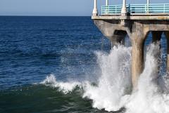 spray (greenelent) Tags: beach spray ocean pacific water blue ca manhattanbeach california 365 photoaday