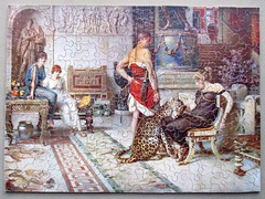 A Present from Caesar (pefkosmad) Tags: jigsaw puzzle hobby leisure pastime secondhand used vintage complete chadvalley wood wooden plywood apresentfromcaesar fortuninomatania illustratednewspapers art fineart painting promotionalmaterial interlocking agiftfromcaesar