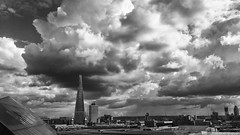 The Shard (Future-Echoes) Tags: 4star 2017 architecture bw blackandwhite buildings city cloud iphone theshard