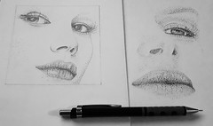 Stippling (ana_kapetan_design) Tags: draw stippling face woman
