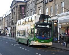 Lothian 934 westbound on George Street, Edinburgh. (calderwoodroy) Tags: eclipsegemini2 wrightbus b9tl volvo sn09cvv 934 service43 edinburghtransport lothiancountry lothianbuses doubledecker bus georgestreet edinburgh scotland