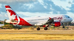 Air Canada Rouge | C-GBHR | Airbus A319-114 | BGI (Terris Scott Photography) Tags: aircraft airplane aviation plane spotting travel barbados jet jetliner air canada rouge airbus a319 toronto sky grass field nikon d750 tamron 70200mm f28 di vc usd g2