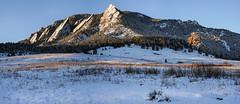 Flatirons - Boulder Colorado (Bernie Duhamel) Tags: flatirons boulder bouldercounty frontrange greatphotographers teamsony rockymountains bernie duhamel snow winter mountains sonya7riii sony2470mm colorado sunrise shadows snowy sunshine