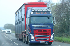 Volvo FH John Wright Livestock Transport JW15 COW (SR Photos Torksey) Tags: transport truck haulage hgv lorry lgv logistics road commercial vehicle freight traffic volvo fh john wright livestock