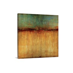 Desert Sunset Wall Art - Canvas - Gallery Wrap Big, square abstract artwork for a living room or office. Smaller section of cooler colors at the top appear to drip vertically down to a larger section of warmer color at the bottom, split by a dark horizont (spaceplug) Tags: gift love photooftheday shop buy happy like4like amazing canvas spaceplug like sell wallart photo perfectgift follow nice bigcanvas followus sunset perfectpic style desert photography follow4follow