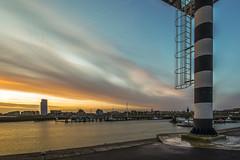 Ferry basin (Eugène56) Tags: hdr longexposure sunrise bluehour terneuzen blue harbour cityscape nikon d5600