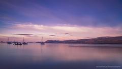Menai Strait, North Wales. Shot from Anglesey. (Richard Walker Photography) Tags: calm northwales snowdonia mountains sea boats menaistrait wales