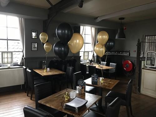 Tafeldecoratie 3ballonnen Droogdok Jan Blanken Hellevoetsluis