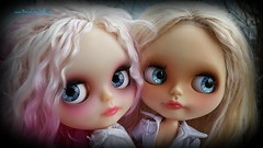 Blue Eyes (Motor City Dolly) Tags: custom ooak blythe dolls doll blonde pink hair blue eyes mohair alpaca
