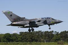 Royal Air Force, Tornado GR4, ZD749 / 097. (M. Leith Photography) Tags: raf lossiemouth lossie aviation jet panavia tornado gr4 scotland scottish sunshine royal air force mark leith photography nikkor 70200vrii nikon airplane aircraft sky cockpit grass field