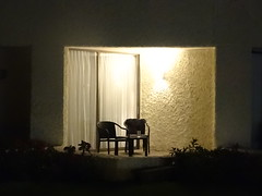 Chairs (knightbefore_99) Tags: mexico mexican oaxaca tangolunda tropical cool awesome pacific west coast best chairs empty patio garden light night nuit noche