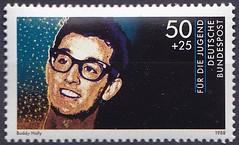 Deutsche Briefmarken (micky the pixel) Tags: briefmarke stamp ephemera deutschland bundespost jugendmarke fürdiejugend rockmusik popmusik musiker buddyholly